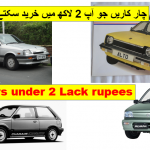 4 most Cheap cars ever in Pakistani vehicle market
