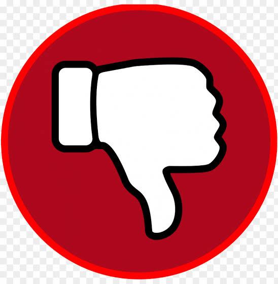 Dislike icon png