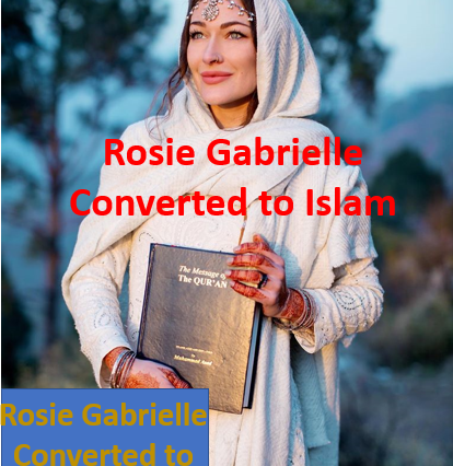 Internation Motorbike traveler 'Rosie Gabrielle' Holding the Holy Book of Quran, as she accepted Islam
