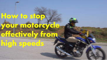 Haris awaan on 'how to stop a motobike properly'