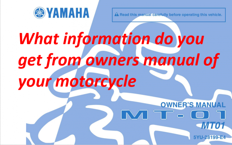 A poster of Book guide of motobikes also called as Manual or Booklet